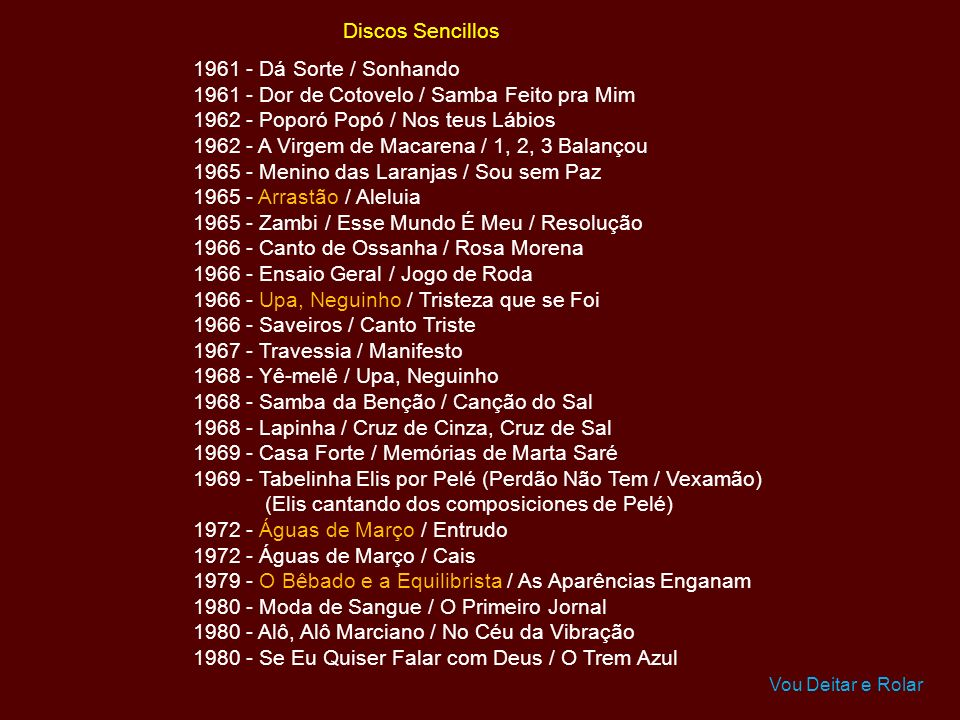 1961 - Dor de Cotovelo / Samba Feito pra Mim
