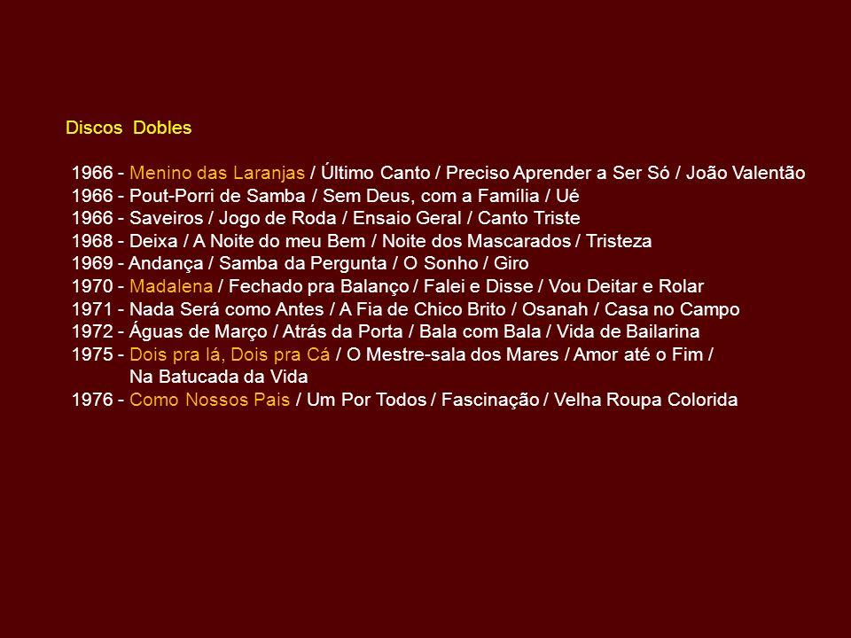 Discos Dobles 1966 - Menino das Laranjas / Último Canto / Preciso Aprender a Ser Só / João Valentão.