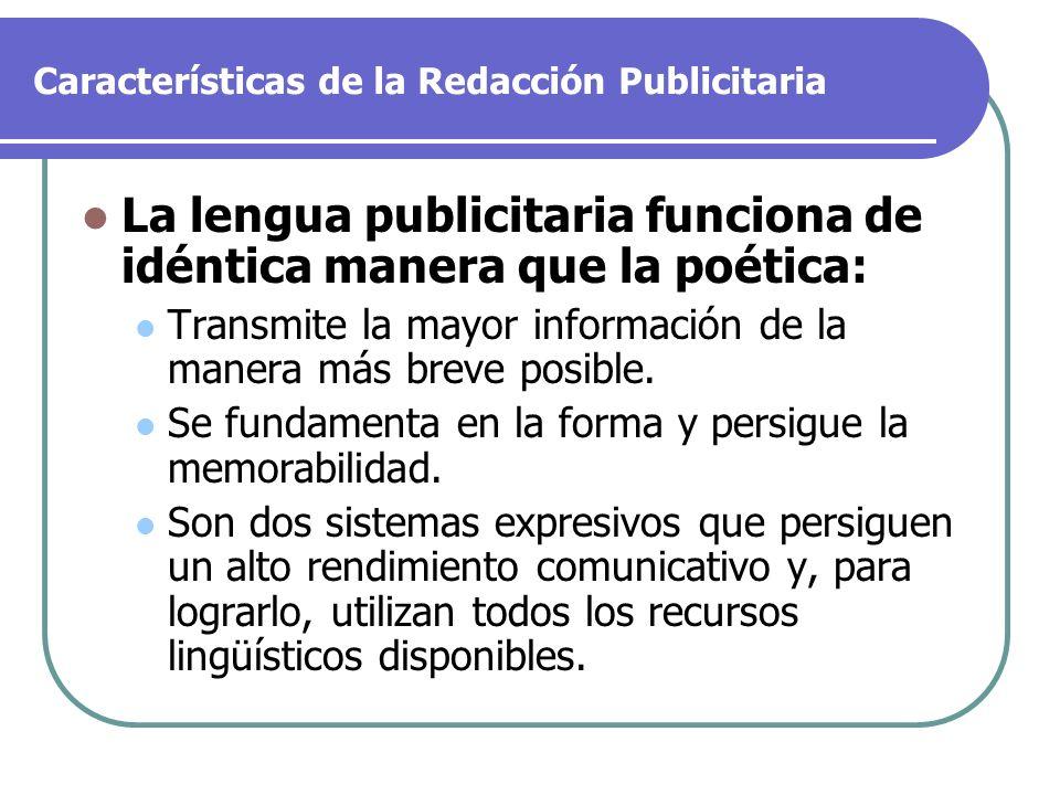 Características de la Redacción Publicitaria