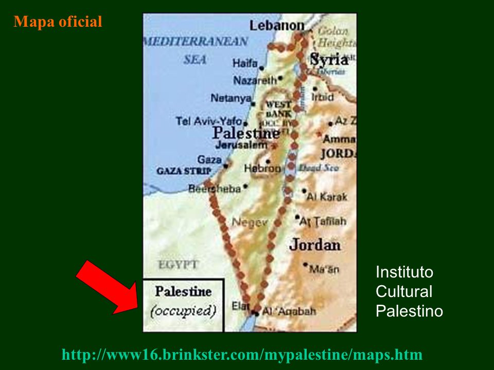 Mapa oficial Instituto Cultural Palestino http://www16.brinkster.com/mypalestine/maps.htm