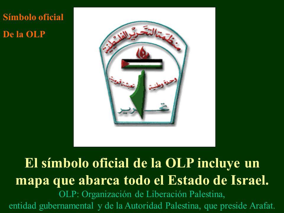 El símbolo oficial de la OLP incluye un