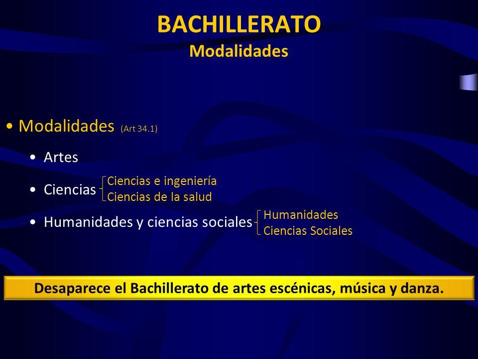 BACHILLERATO Modalidades
