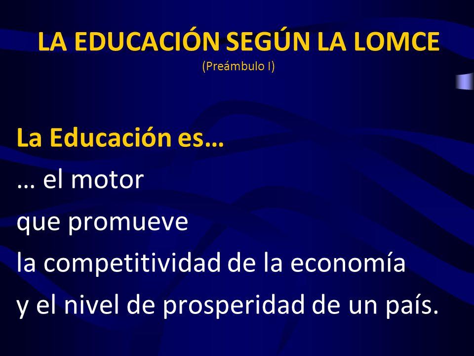 LA EDUCACIÓN SEGÚN LA LOMCE (Preámbulo I)