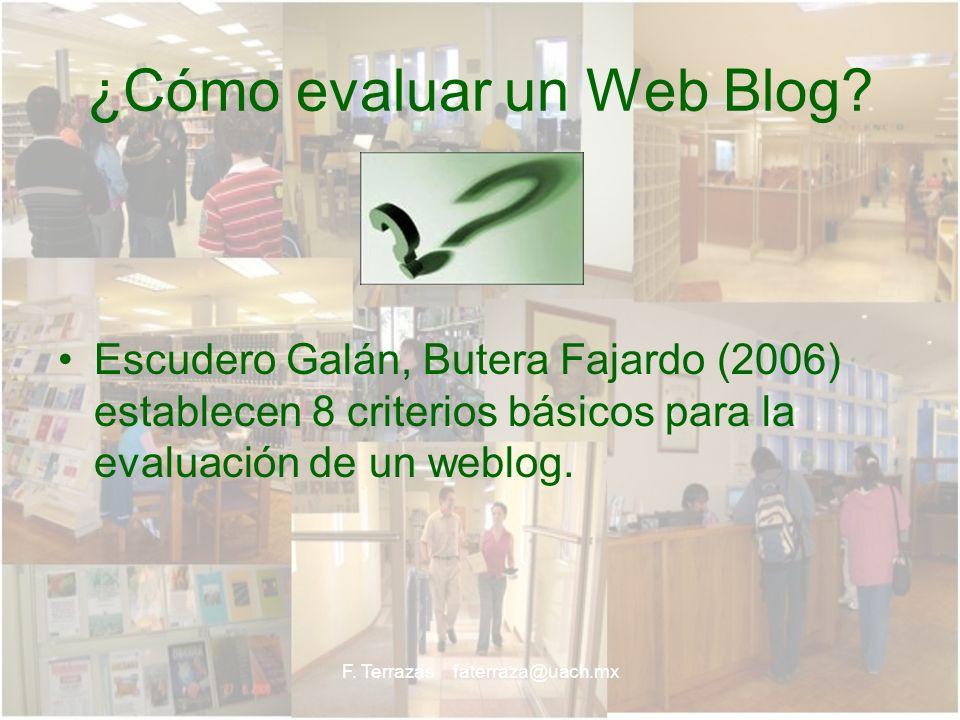 ¿Cómo evaluar un Web Blog