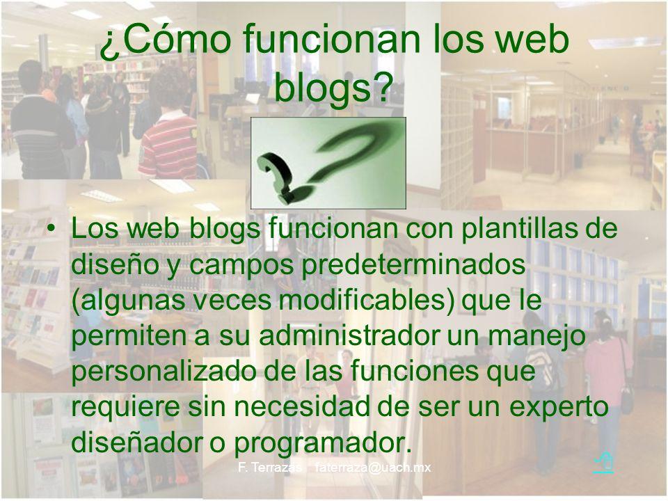 ¿Cómo funcionan los web blogs