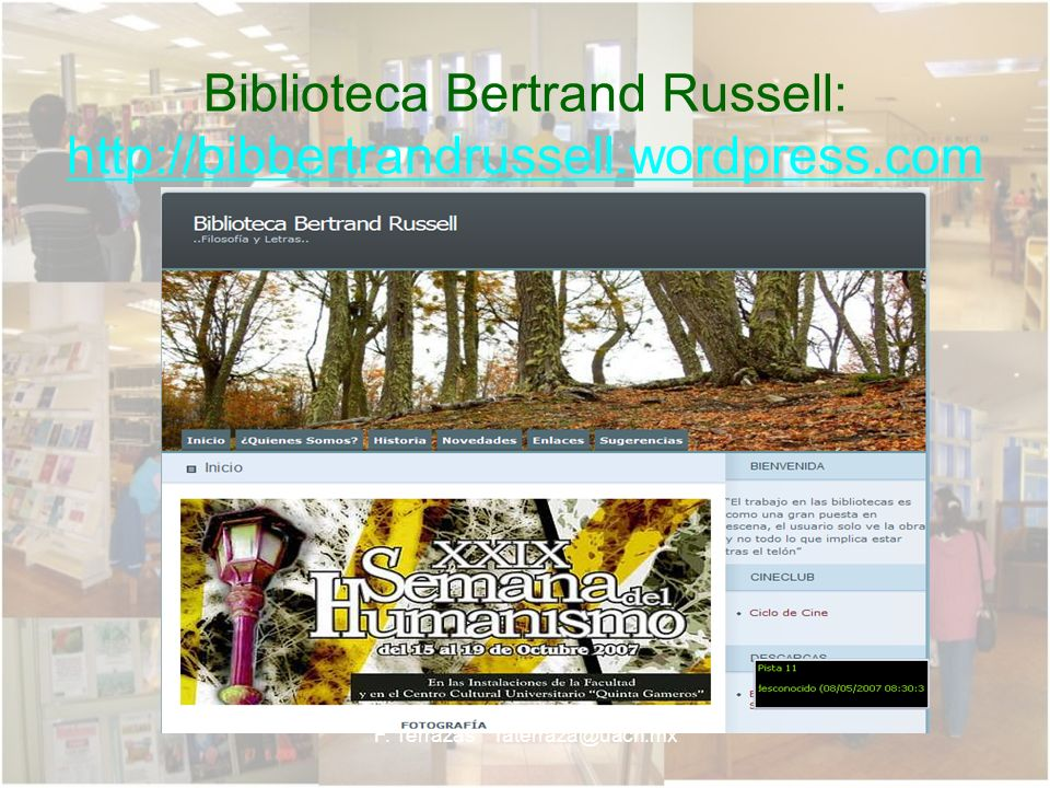 Biblioteca Bertrand Russell: http://bibbertrandrussell.wordpress.com
