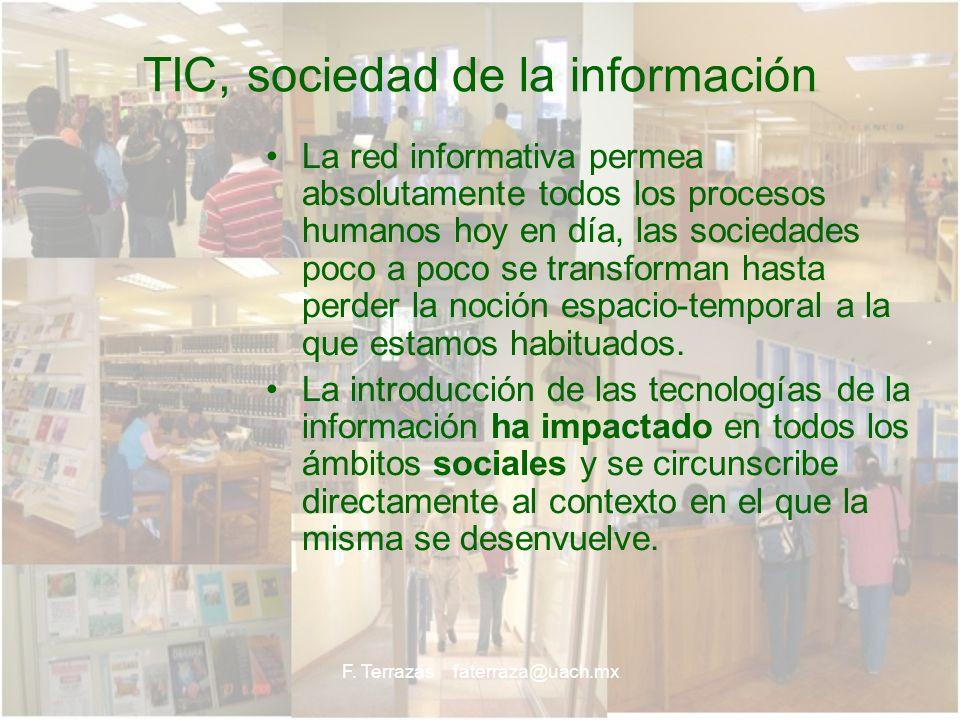 TIC, sociedad de la información