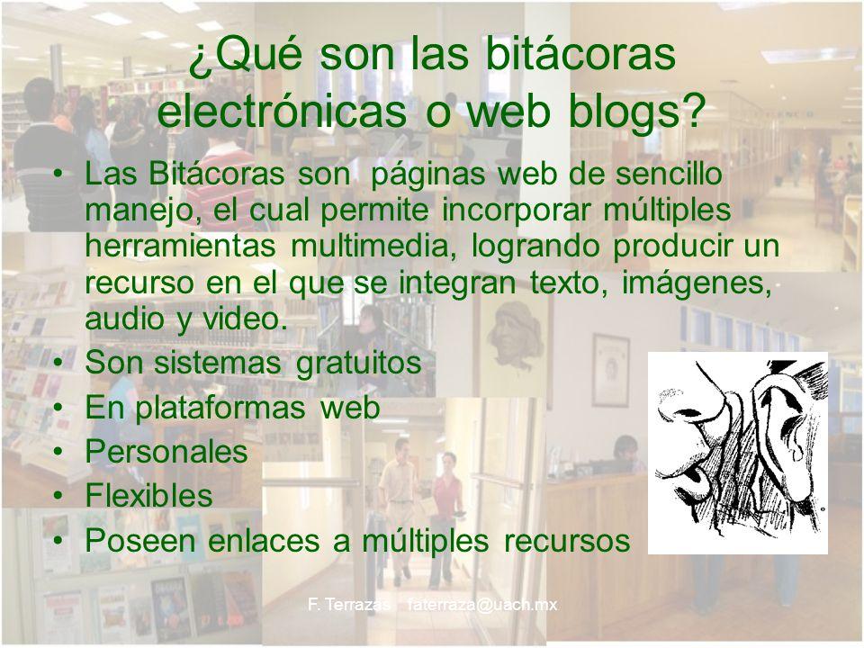 ¿Qué son las bitácoras electrónicas o web blogs