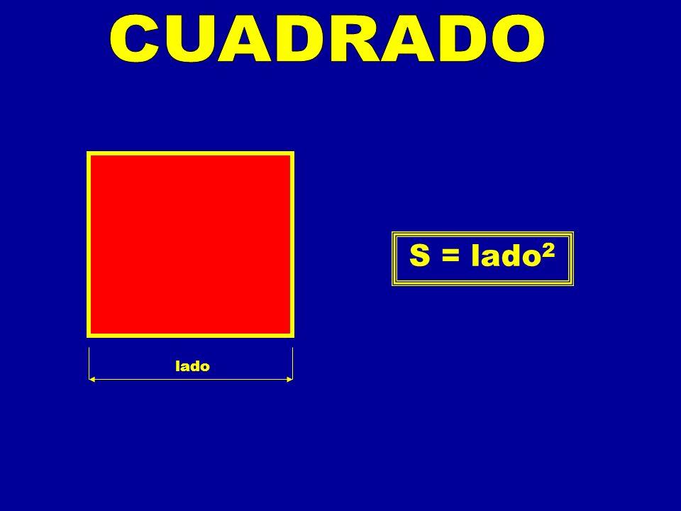 CUADRADO S = lado2 lado