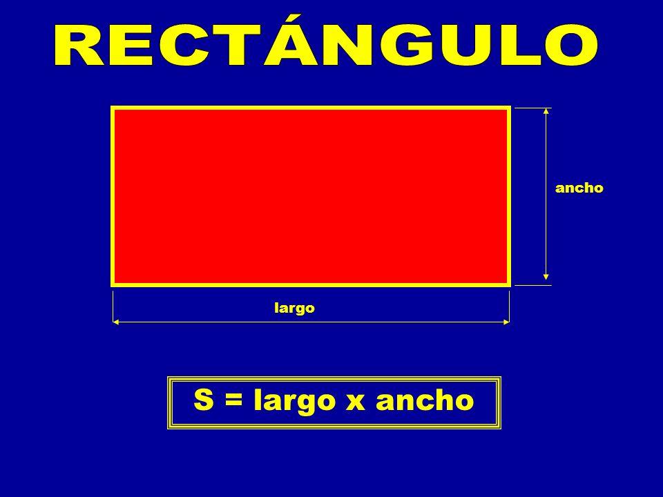 RECTÁNGULO ancho largo S = largo x ancho