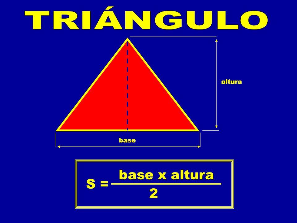 TRIÁNGULO altura base S = base x altura 2