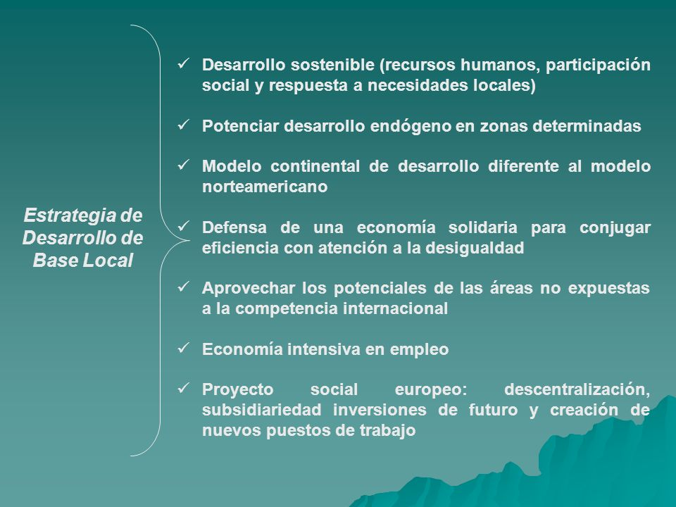 Estrategia de Desarrollo de Base Local