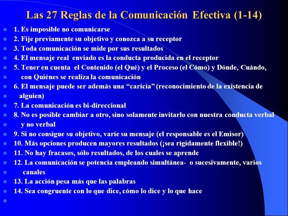 Las 27 Reglas de la Comunicación Efectiva (1-14)