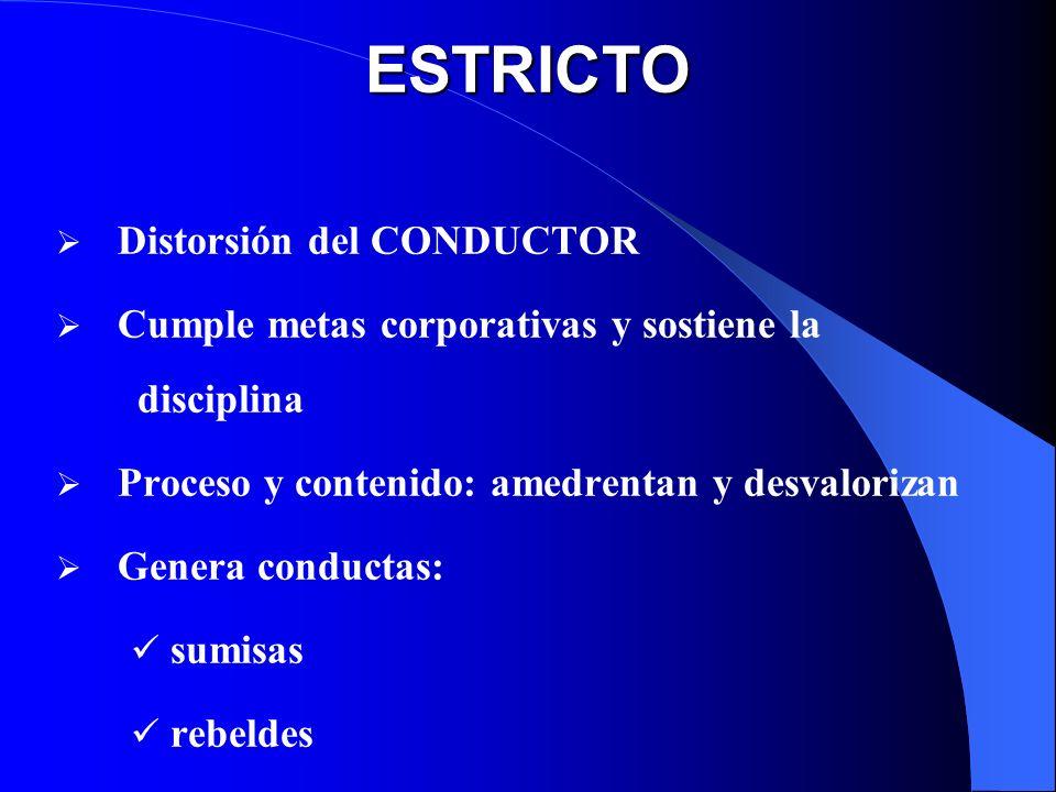 ESTRICTO Distorsión del CONDUCTOR