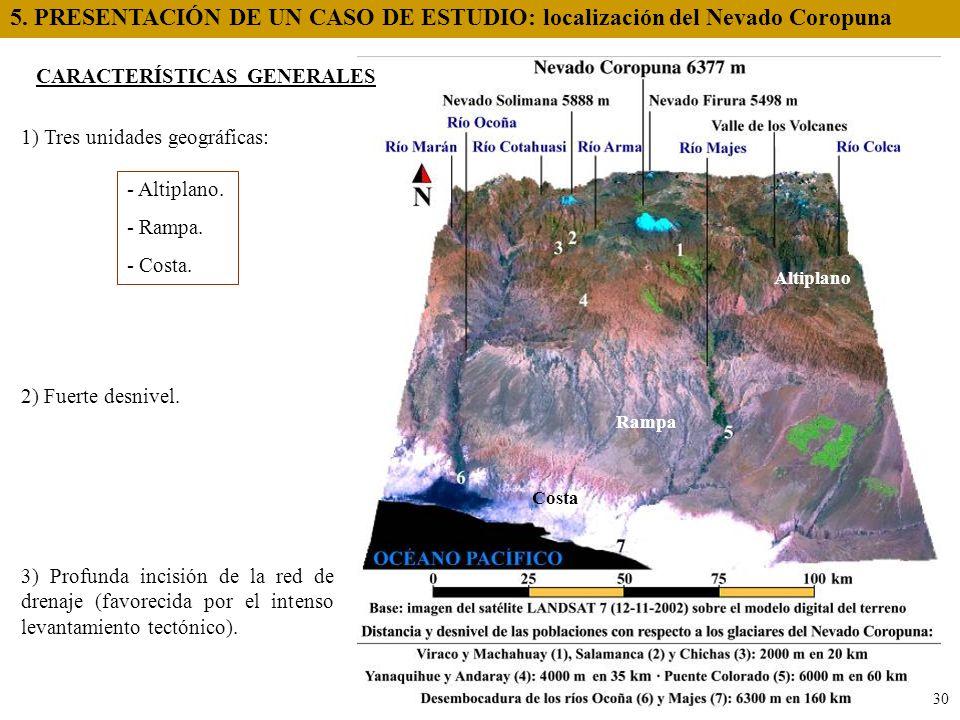 5. PRESENTACIÓN DE UN CASO DE ESTUDIO: localización del Nevado Coropuna