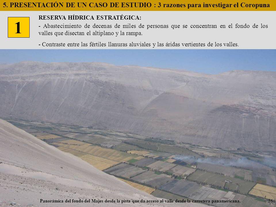 5. PRESENTACIÓN DE UN CASO DE ESTUDIO : 3 razones para investigar el Coropuna