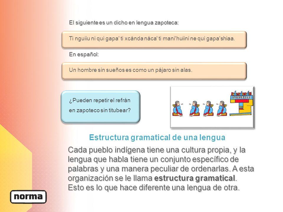 Estructura gramatical de una lengua