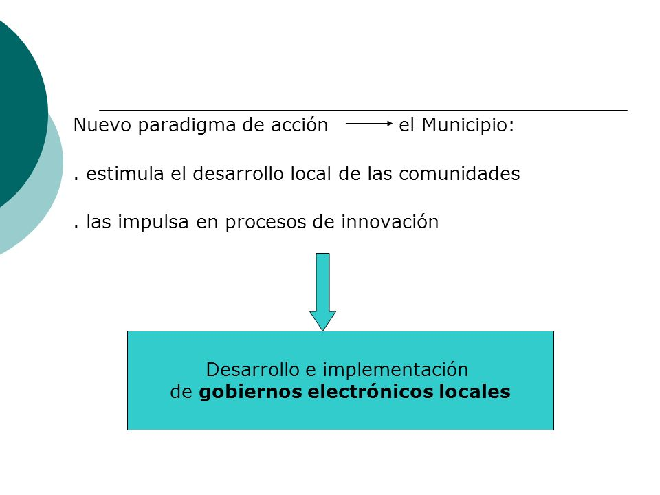 Nuevo paradigma de acción el Municipio: