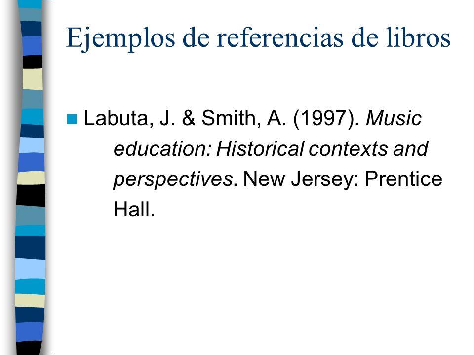 Ejemplos de referencias de libros