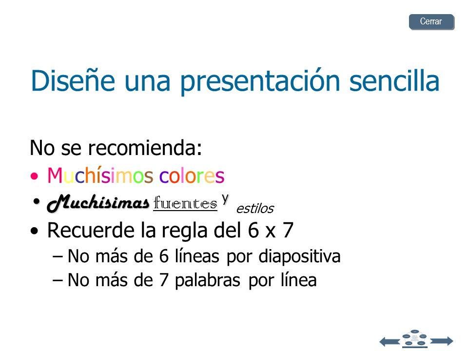 Diseñe una presentación sencilla