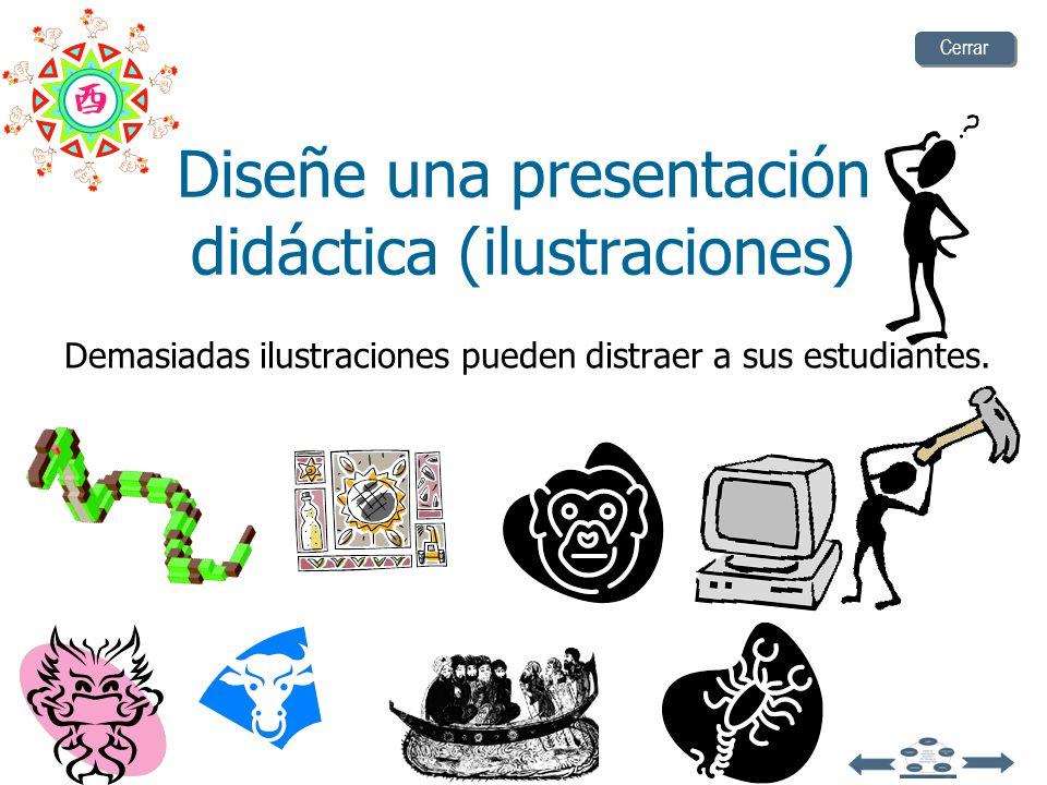 Diseñe una presentación didáctica (ilustraciones)