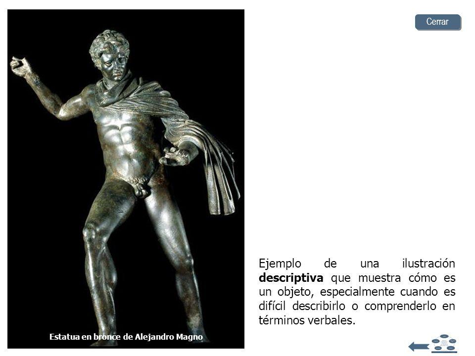 Estatua en bronce de Alejandro Magno