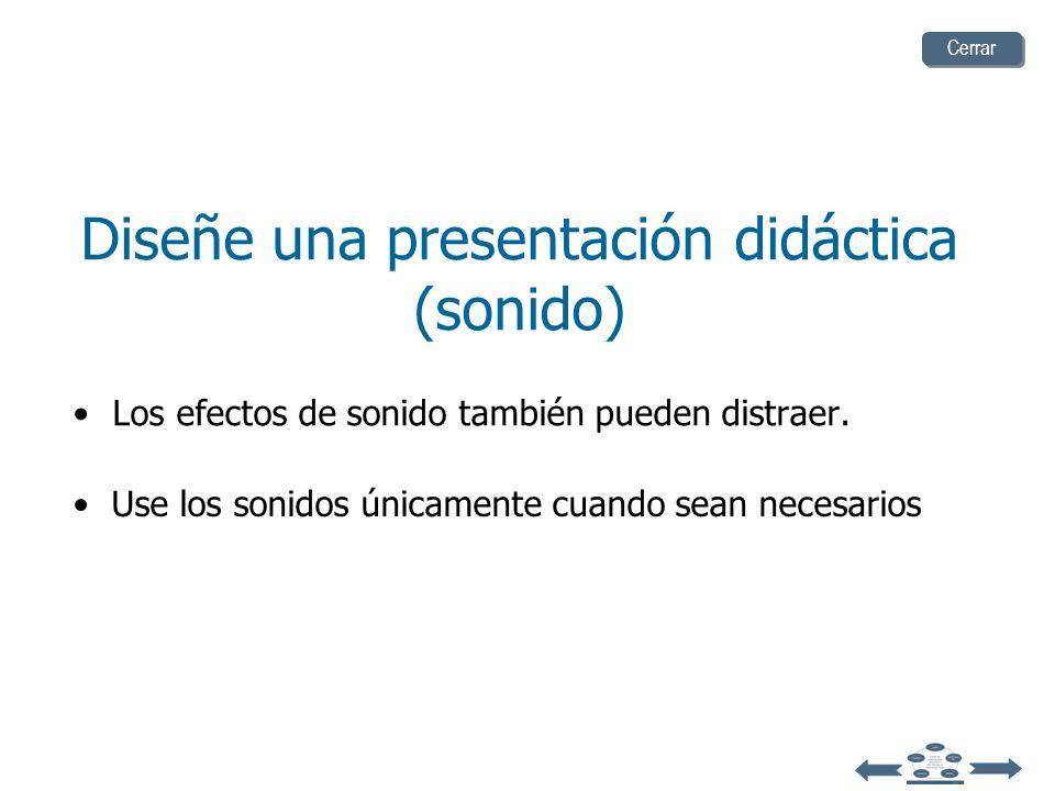 Diseñe una presentación didáctica (sonido)