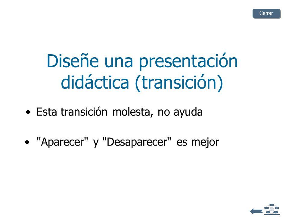 Diseñe una presentación didáctica (transición)