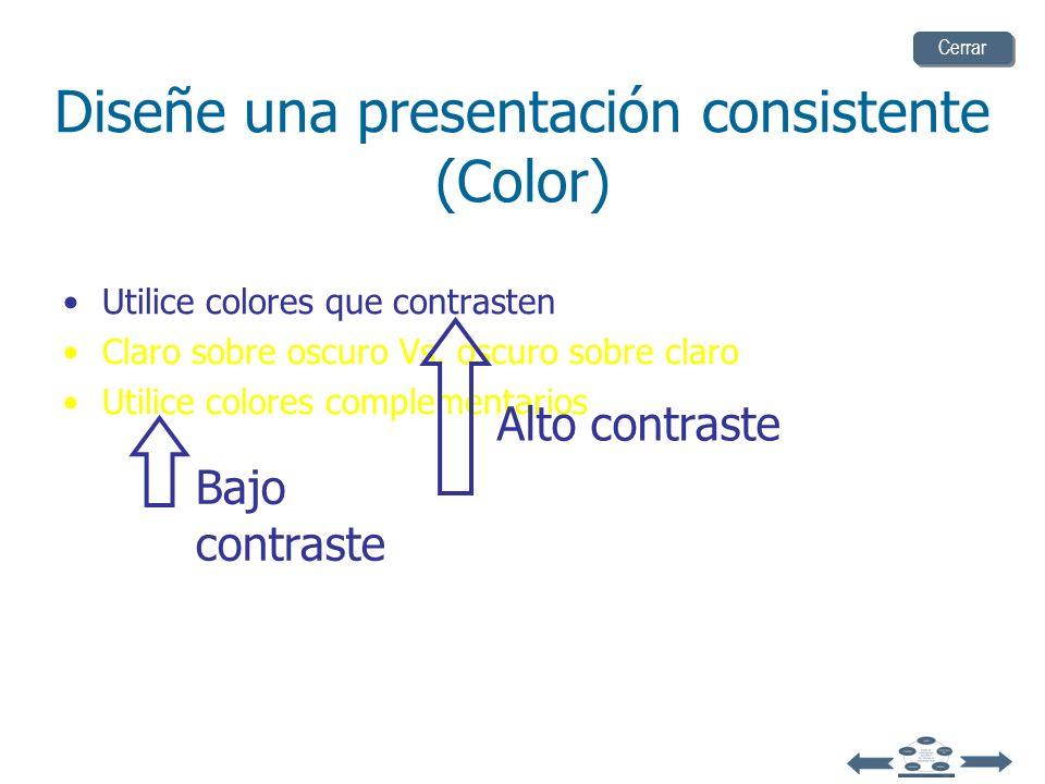 Diseñe una presentación consistente (Color)