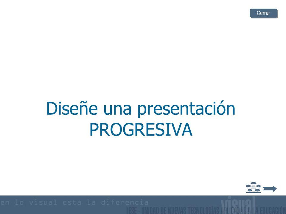 Diseñe una presentación PROGRESIVA