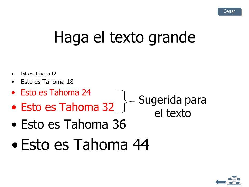 Haga el texto grande Esto es Tahoma 44 Esto es Tahoma 36