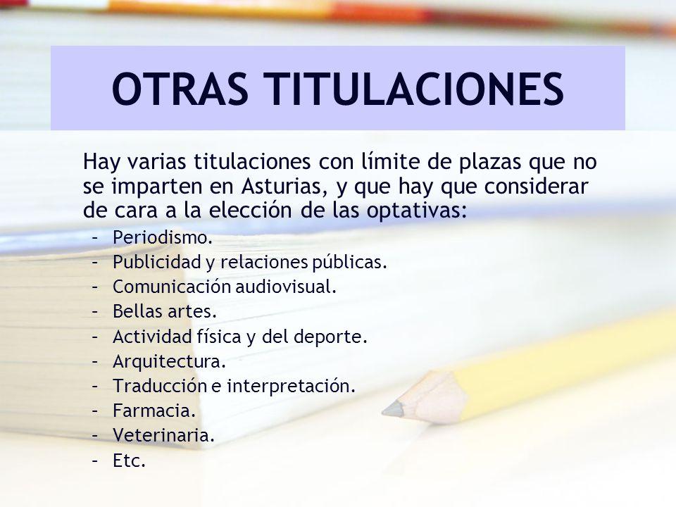OTRAS TITULACIONES