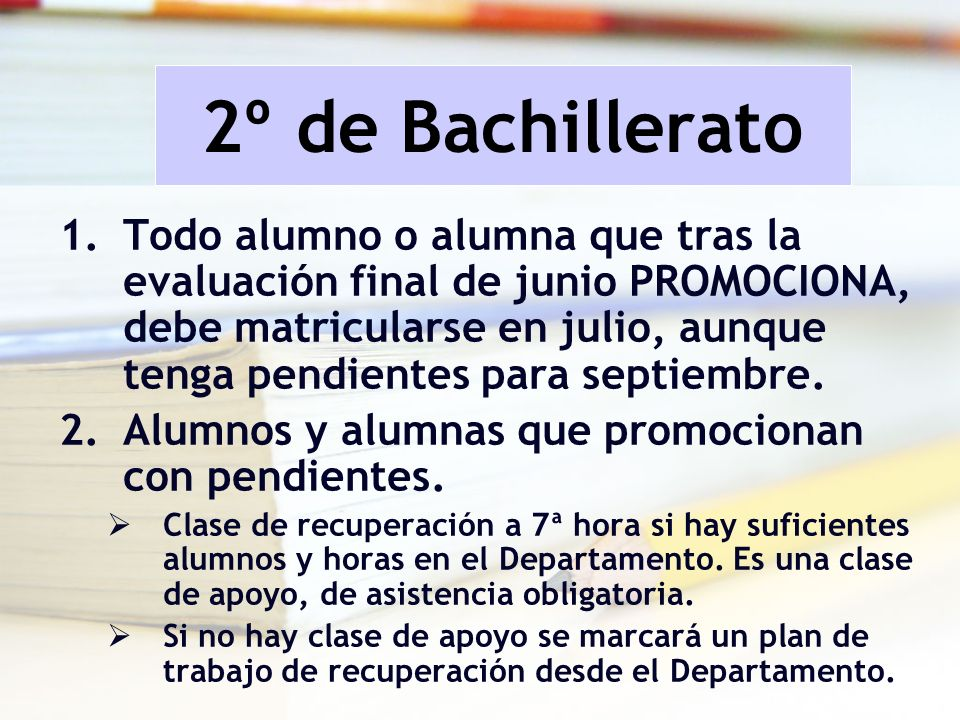 2º de Bachillerato