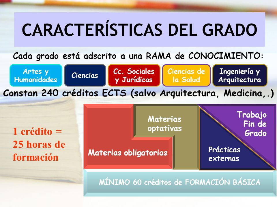 CARACTERÍSTICAS DEL GRADO