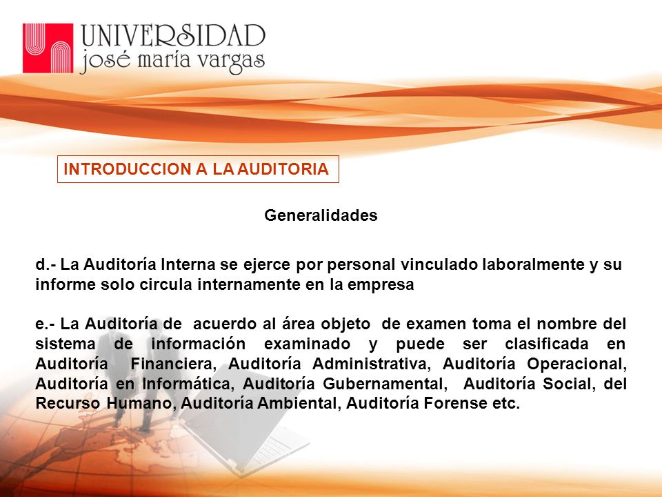 INTRODUCCION A LA AUDITORIA