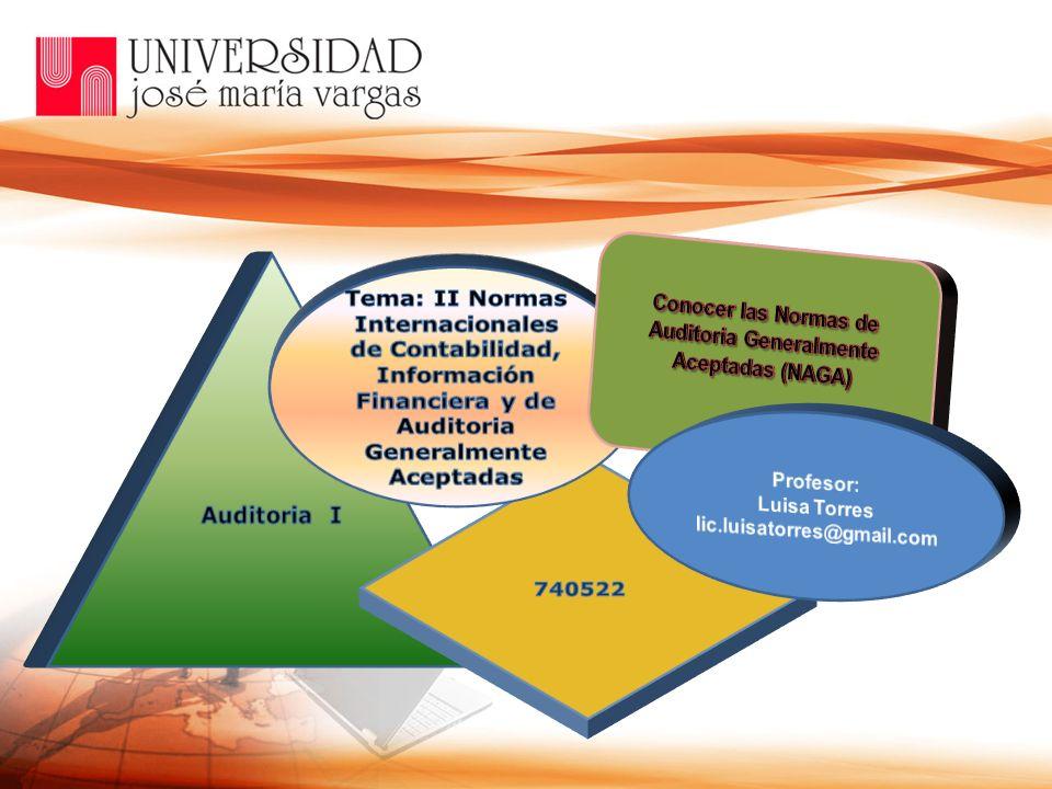 Conocer las Normas de Auditoria Generalmente Aceptadas (NAGA)