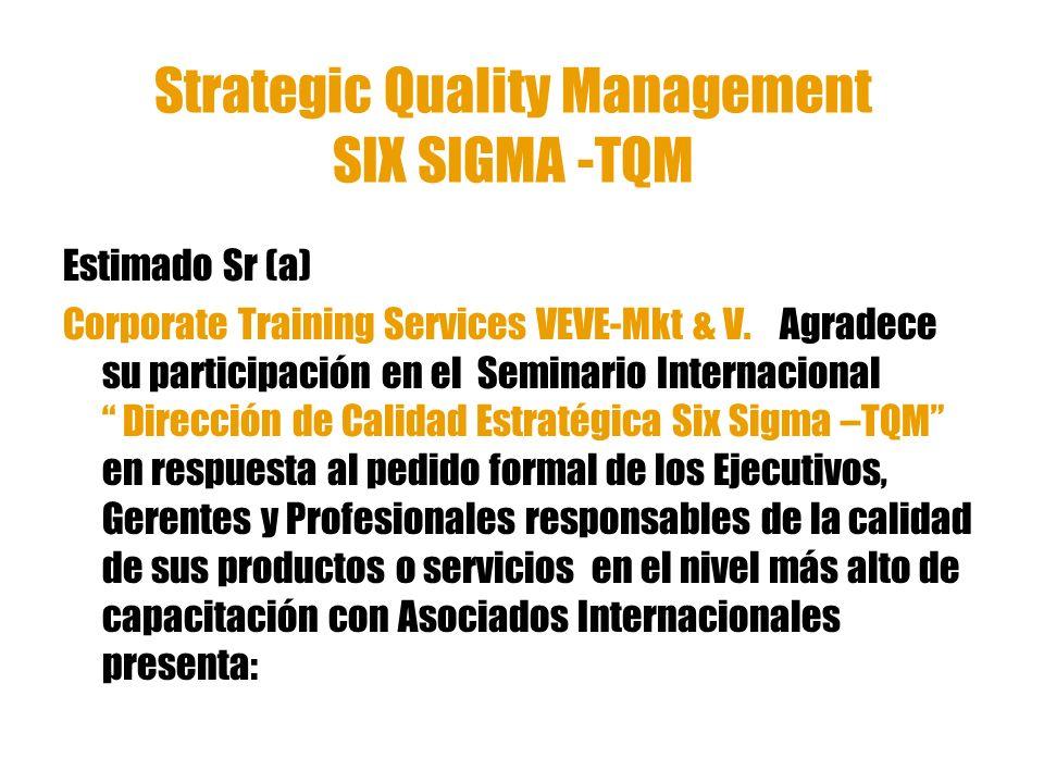 Strategic Quality Management SIX SIGMA -TQM
