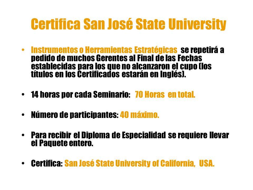 Certifica San José State University