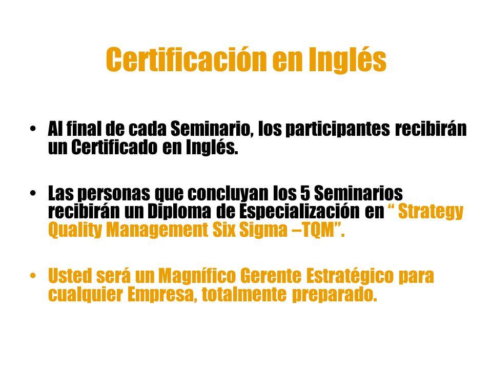 Certificación en Inglés