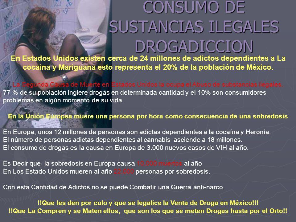 CONSUMO DE SUSTANCIAS ILEGALES DROGADICCION