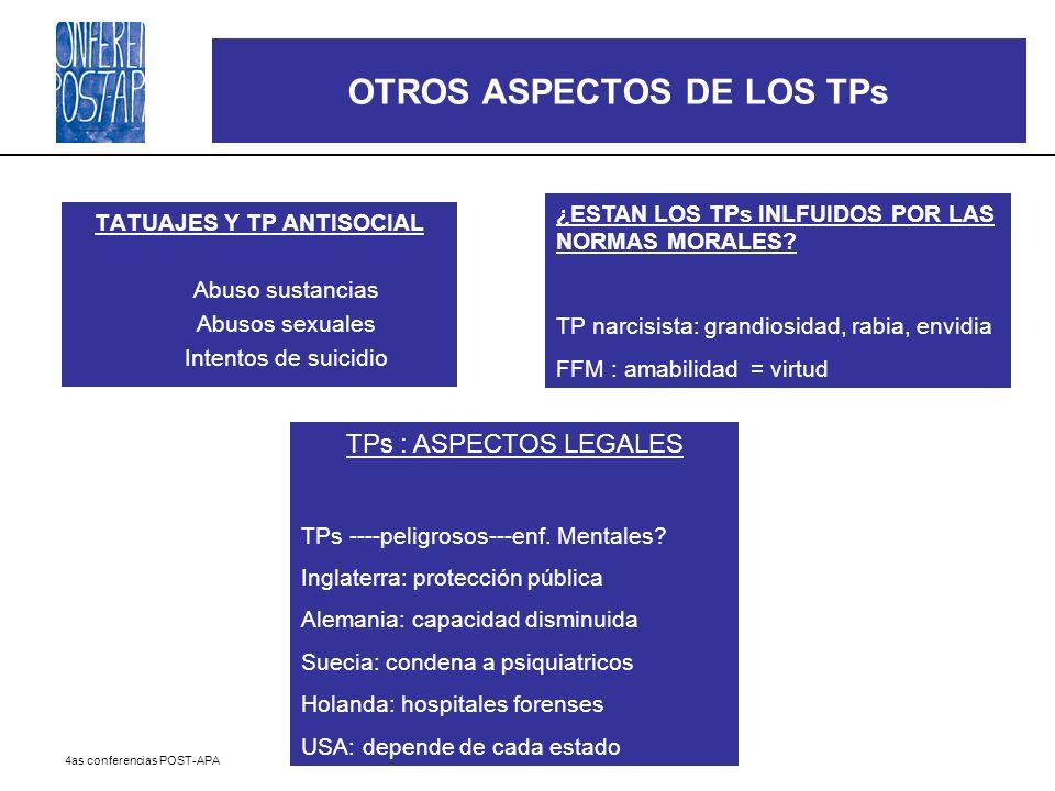 OTROS ASPECTOS DE LOS TPs