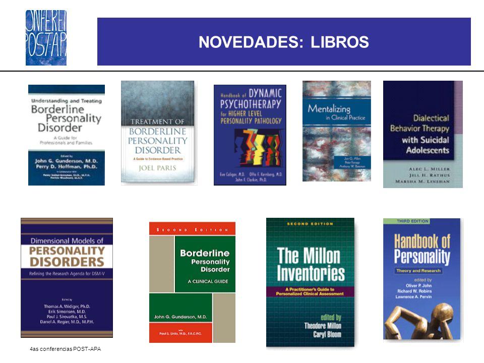 NOVEDADES: LIBROS