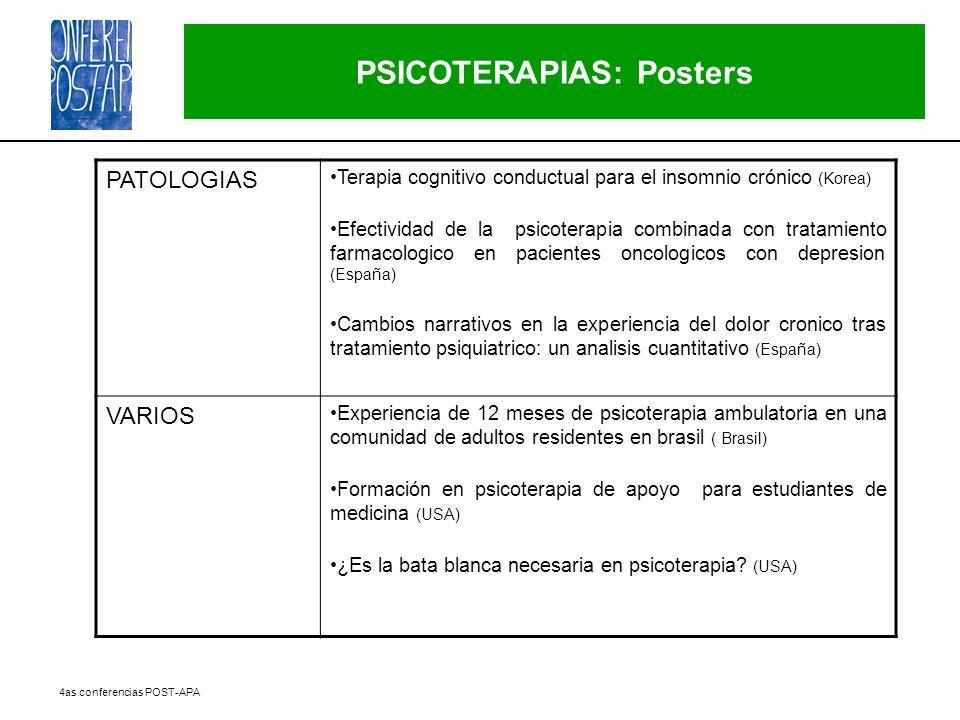 PSICOTERAPIAS: Posters