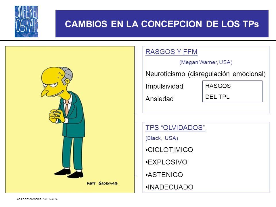 CAMBIOS EN LA CONCEPCION DE LOS TPs