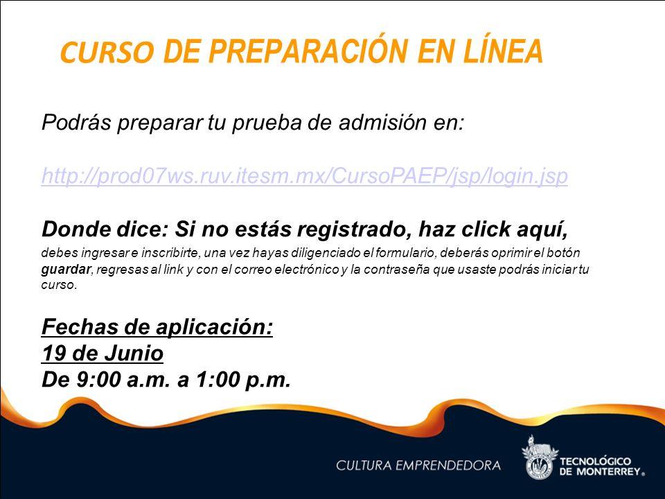 Curso de preparación en línea