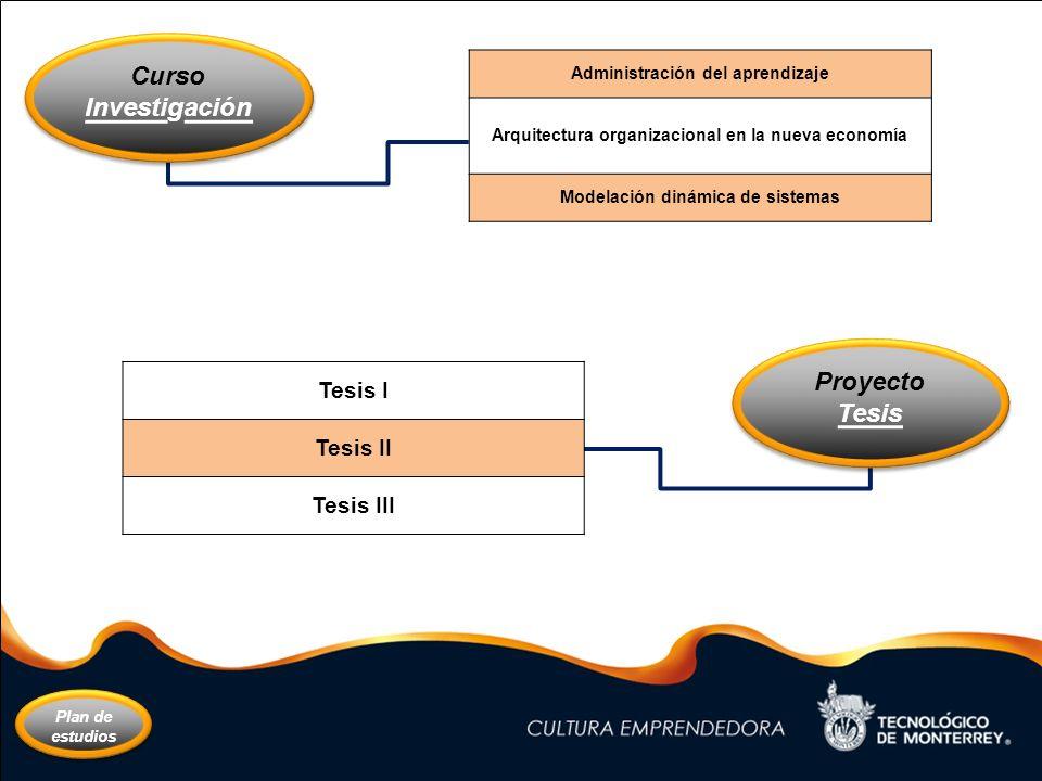 Curso Investigación Proyecto Tesis
