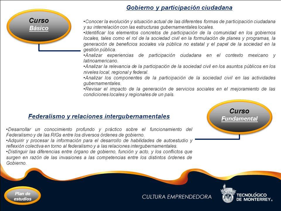 Federalismo y relaciones intergubernamentales