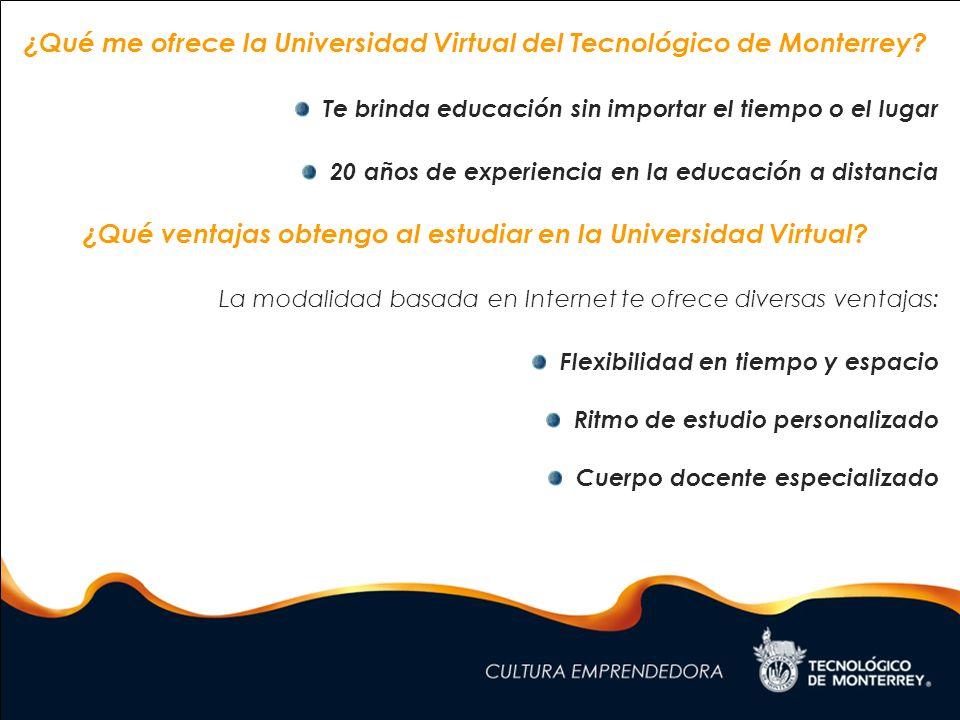 ¿Qué me ofrece la Universidad Virtual del Tecnológico de Monterrey