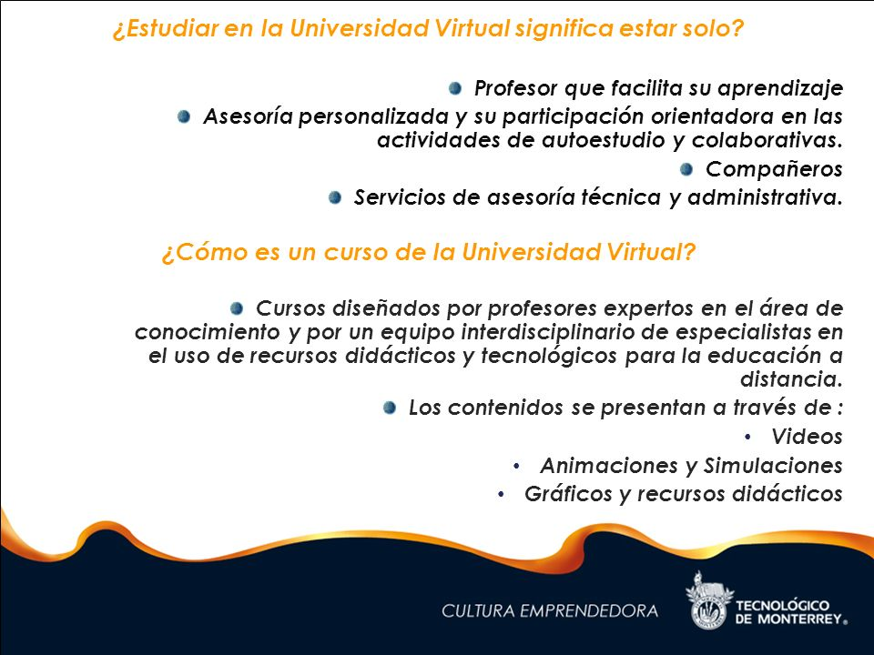 ¿Estudiar en la Universidad Virtual significa estar solo