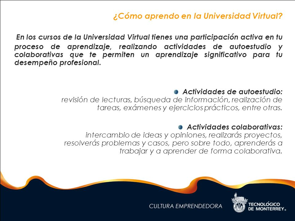 ¿Cómo aprendo en la Universidad Virtual
